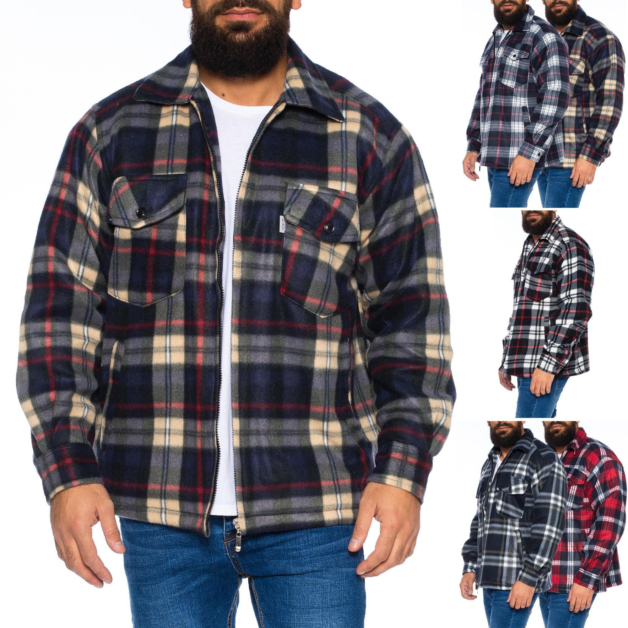 Herren Thermohemd Jacke Hemd Holzfällerhemd Arbeitshemd warm ... acebf835ab