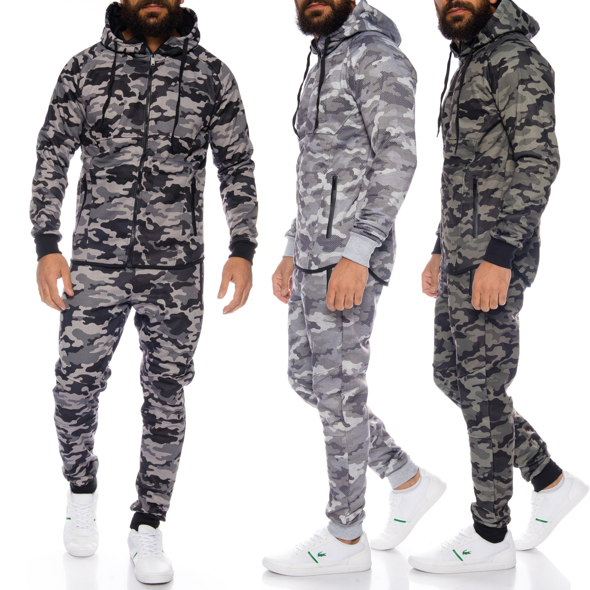 e838f174bbd1e Beschreibung  modern geschnittener Jogginganzug  im außergewöhnlichen  Camouflage- ...